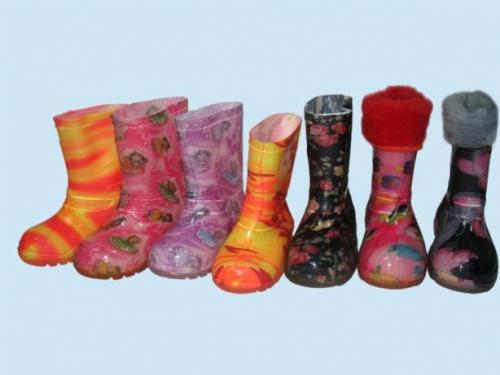 детские силиконовые сапоги